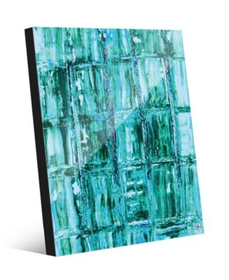"Aizu in Green Abstract 20"" x 24"" Acrylic Wall Art Print"