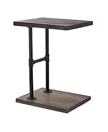 American Art Decor Modern Wood End Side Table