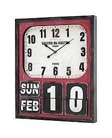 American Art Decor Oversized Wall Clock and Calendar