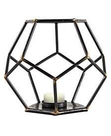 American Art Decor Geometric Tealight Candle Holder Hexagonal Table Top Sculpture