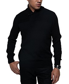 Men's Ribbed Shawl Collar Sweater
