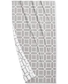 "Resort Geo Print Cotton 40"" x 70"" Beach Towel, Created for Macy's"