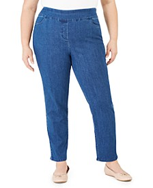 Plus Size Pearls of Wisdom Proportioned Superstretch Denim Jeans