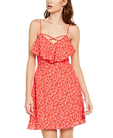 Juniors' Ruffled Popover Dress