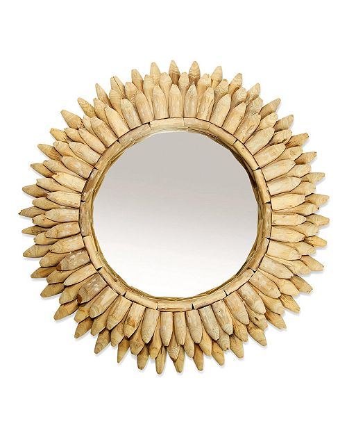 Two's Company Wood Pieces Wall Mirror