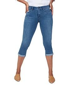 Roll-Hem Chloe Cropped Skinny Jeans