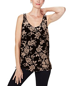 Velvet Scoop-Neck Tank Top