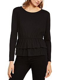 INC Tulle Peplum Top, Created for Macy's