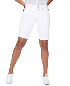 Roll-Hem Briella Denim Shorts