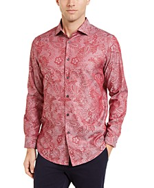 Men's Jacquard Paisley Shirt, Created For Macy's