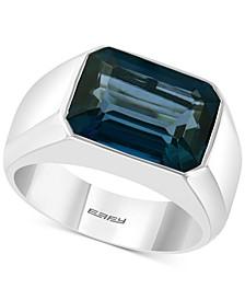 EFFY® Men's London Blue Topaz Ring (9-1/4 ct. t.w.) in Sterling Silver