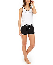 Jersey Tank Top & French Terry Shorts Pajama Set