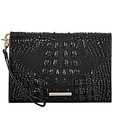 Melbourne Embossed Leather Sara Clutch