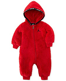 Baby Boys Faux-Sherpa Hooded Coverall