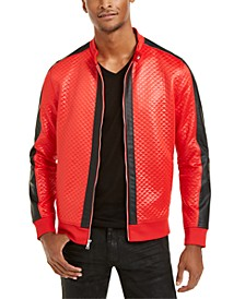 INC Men's Diamond Quilted Faux-Leather Jacket, Created For Macy's