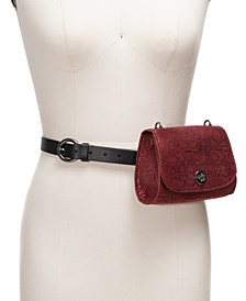 I.N.C. Snake-Embossed Convertible Belt Bag, Created For Macy's