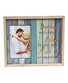 """Lighted Photo Frame 4"""" x 6"""" with Dream Beautifully, Live Passionately"""