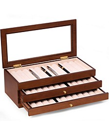 3 Level 36 Pen Storage Case with Glass Top