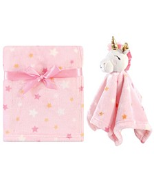 Baby Girl Plush Blanket and Security Blanket