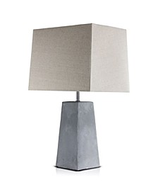 American Art Decor Modern Stylish Concrete Cement Accent Table Lamp with Canvas Shade