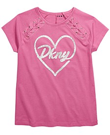 Big Girls Lace-Up Logo T-Shirt