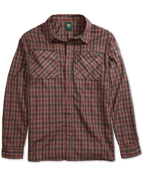 Eastern Mountain Sports EMS® Men's Quinnipiac Quick-Dry Plaid Tech Flannel Shirt