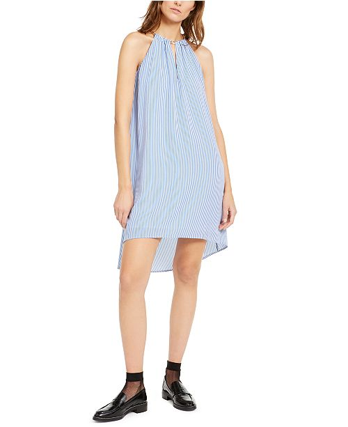 Michael Kors Striped High-Low Dress
