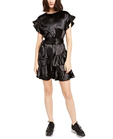 Ruffled A-Line Dress, Regular & Petite Sizes