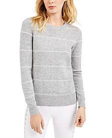 Tinsel-Striped Sweater, Regular & Petite Sizes