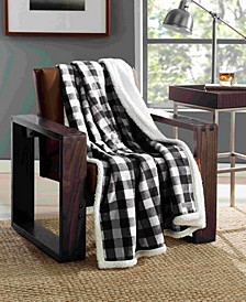 Cabin Plaid Sherpa Throw