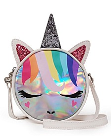 OMG Accessories Rainbow Hair Hologram Unicorn Crossbody