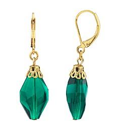 14K Gold Dipped Drop Bead Earring