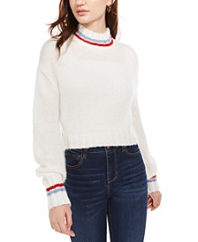 Juniors' Turtleneck Cropped Sweater