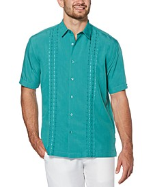 Men's Big & Tall Regular-Fit Embroidered Panel Shirt