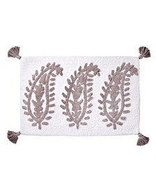 Textured Paisley Bath Rug