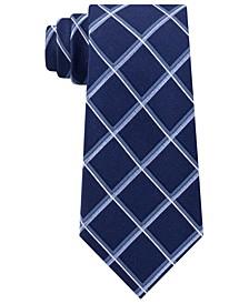 Men's Classic Multi-Grid Silk Tie