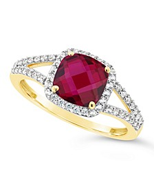 Created Ruby (1-3/4 ct. t.w.) and Created White Sapphire (1/4 ct. t.w.) Ring in 10k Yellow Gold