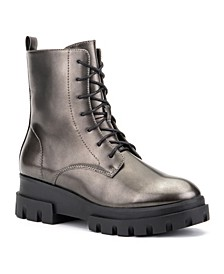'Exhale' High Shine Lug Sole Combat Boots