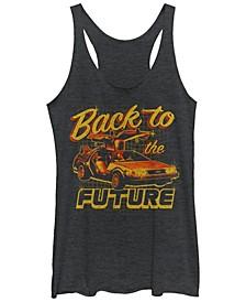Back To The Future Car Tri-Blend Racer Back Tank
