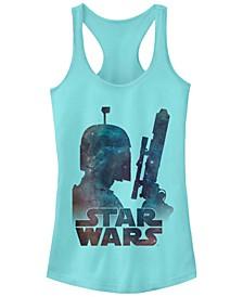 Star Wars Boba Fett Posing In Galaxy Ideal Racer Back Tank