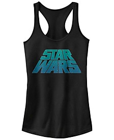Star Wars Slanted Logo With Stars Ideal Racer Back Tank