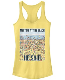 Where's Waldo Meet Me At The Beach He Said Ideal Racer Back Tank