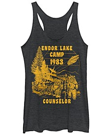 Star Wars Ewok Endor Lake 83 Camp Counselor Tri-Blend Racer Back Tank