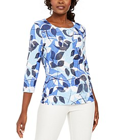 Printed Metallic Top, Created For Macy's