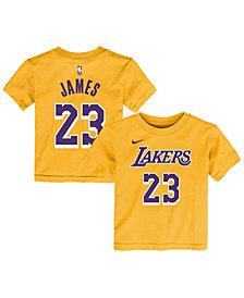 Nike Big Boys LeBron James Los Angeles Lakers Name And Number T-Shirt