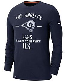 Men's Los Angeles Rams Salute To Service Dri-FIT Cotton Long Sleeve T-Shirt