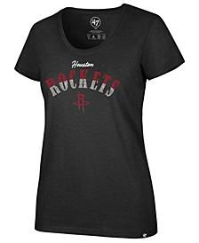 Women's Houston Rockets Sparkle Split Club Scoop T-Shirt