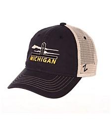 Michigan Wolverines Destination Mesh Snapback Cap