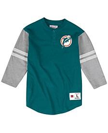 Men's Miami Dolphins Team Logo Henley Top