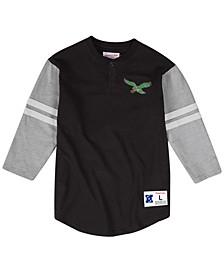 Men's Philadelphia Eagles Team Logo Henley Top